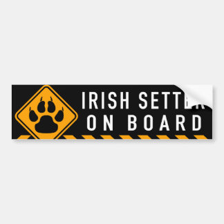 Irish Setter On Board Bumper Sticker