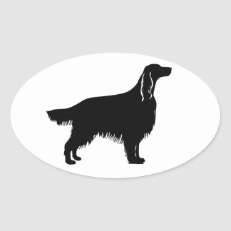 irish setter silhouette oval sticker