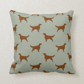 Irish Setter Silhouettes Pattern Throw Pillow