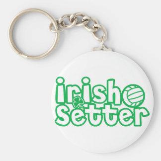 Irish Setter Volleyball Design Basic Round Button Key Ring