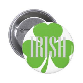 irish shamrock button