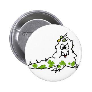 Irish Shamrock Cartoon Slug Monster Pins