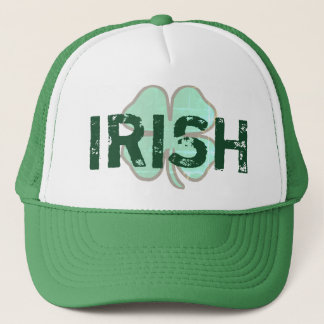 Irish Shamrock Clover Distressed St Paddys Day Hat