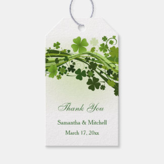 Irish shamrock (clover) Wedding Thank you Gift Tags