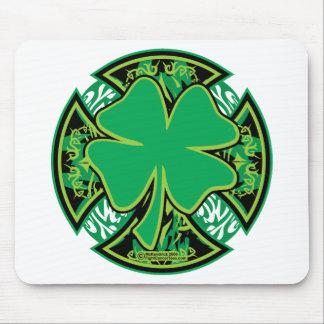 Irish Shamrock Cross Mouse Pad