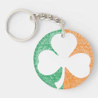 Irish Shamrock custom key chain