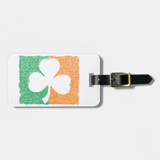 Irish Shamrock  custom luggage tag