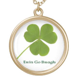 Irish shamrock custom necklace