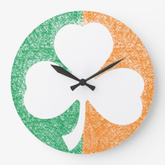 Irish Shamrock custom wall clock