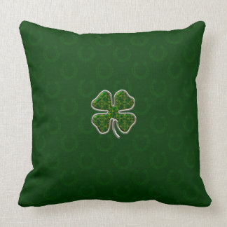 Irish Shamrock Decorator Throw Pillow