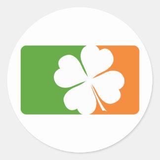 Irish Shamrock Flag Classic Round Sticker