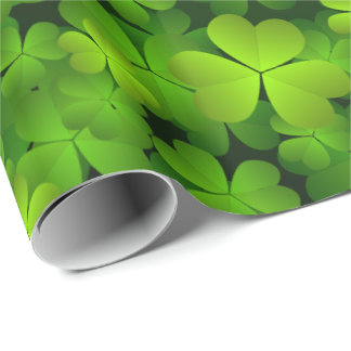 Irish Shamrock Gift Wrap