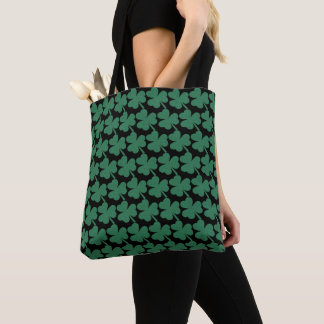 Irish Shamrock Green Glitter St. Patrick's Day Tote Bag