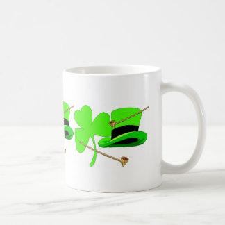 Irish Shamrock Green Hat Mug