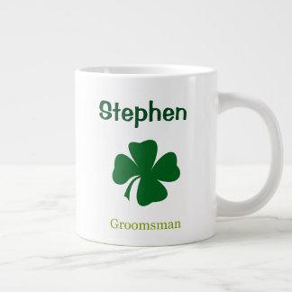 Irish Shamrock Groomsman Personalized Mug