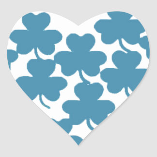 Irish shamrock Heart-St Patricks Heart Sticker