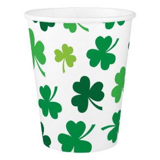 Irish Shamrock Paper Party Cups