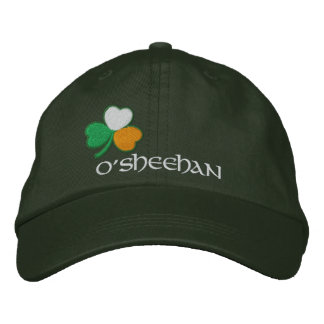 Irish Shamrock Personalised Tricolor Embroidered Hat