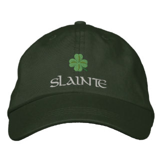 Irish shamrock slainte St Patrick's Embroidered Hat
