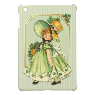 Irish Shamrock Stroll Girl iPad Mini Covers