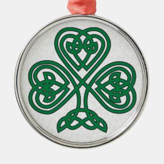 IRISH SHAMROCK SYMBOL CHRISTMAS ORNAMENT