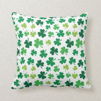Irish Shamrock Throw Pillow