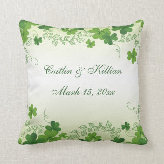 Irish shamrock Wedding Cushion