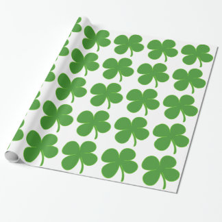 Irish Shamrock Wrapping Paper