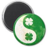 Irish Shamrock Yin Yang Fridge Magnets