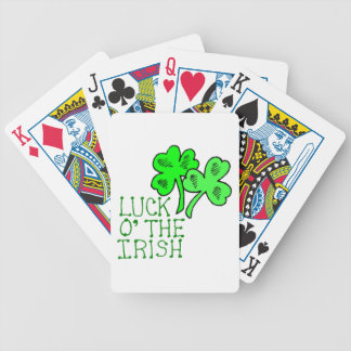 Irish Shamrocks Bicycle Playing Cards