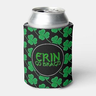 Irish Shamrocks Erin Go Bragh St. Patrick's Day Can Cooler