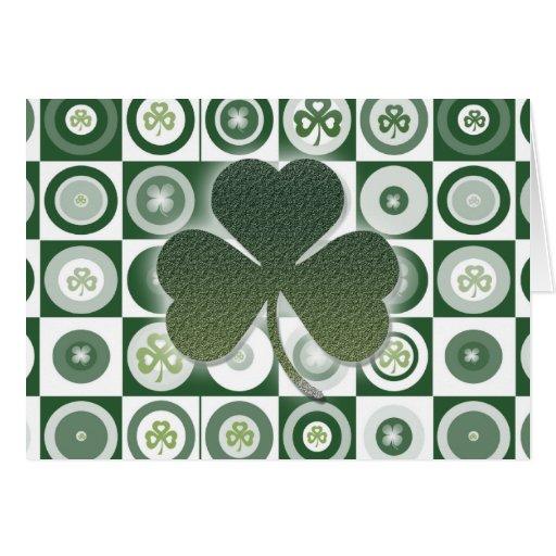 Irish shamrocks greeting cards