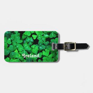 Irish Shamrocks Luggage Tag