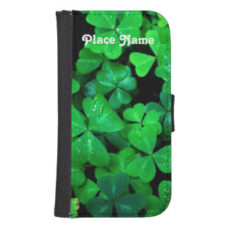 Irish Shamrocks Samsung S4 Wallet Case