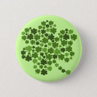 Irish Shamrocks St Paddys Clover 6 Cm Round Badge