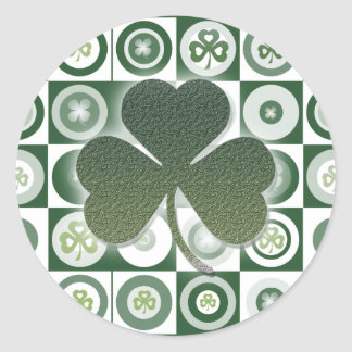 Irish shamrocks stickers