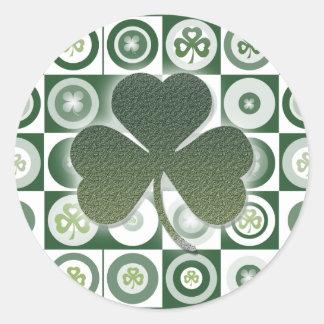 Irish shamrocks stickers
