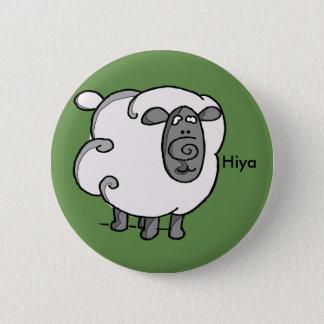 Irish sheep says hiya 6 cm round badge