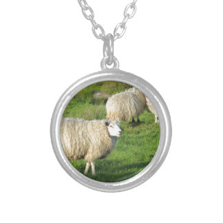 Irish Sheep Silver Plated Necklace