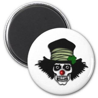 Irish Skeleton Clown 6 Cm Round Magnet