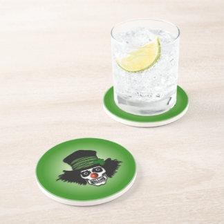 Irish Skeleton Clown Beverage Coaster