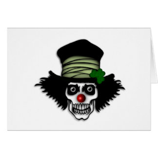 Irish Skeleton Clown Card