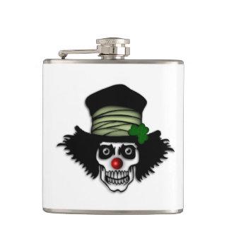 Irish Skeleton Clown Flask