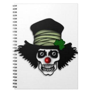 Irish Skeleton Clown Notebooks