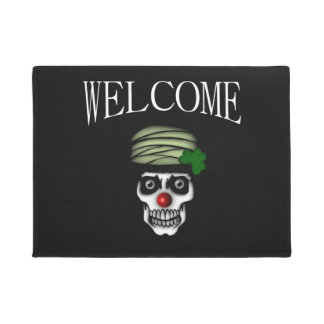 Irish Skeleton Clown Welcome Doormat