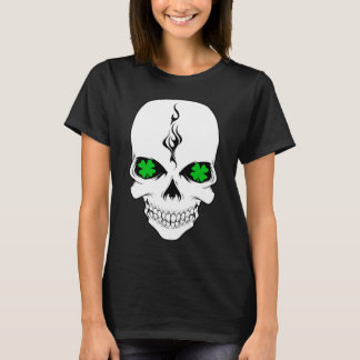 Irish Skull Smokin' Shamrocks T-Shirt