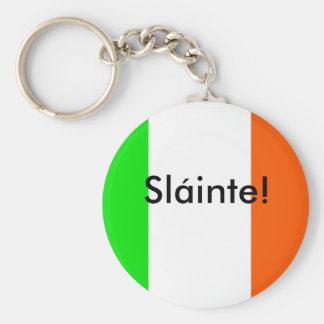 Irish Slainte (Health) Basic Round Button Key Ring