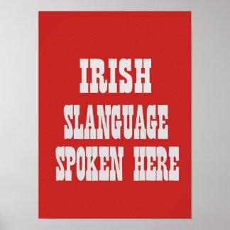 Irish slanguage poster