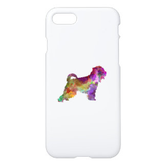 Irish Soft Coated Wheaten Terrier in watercolor.pn iPhone 7 Case