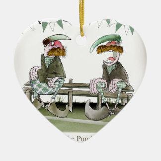 irish sports pundits ceramic ornament